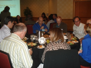 Attendees enjoyed a nice dinner before the Panel.